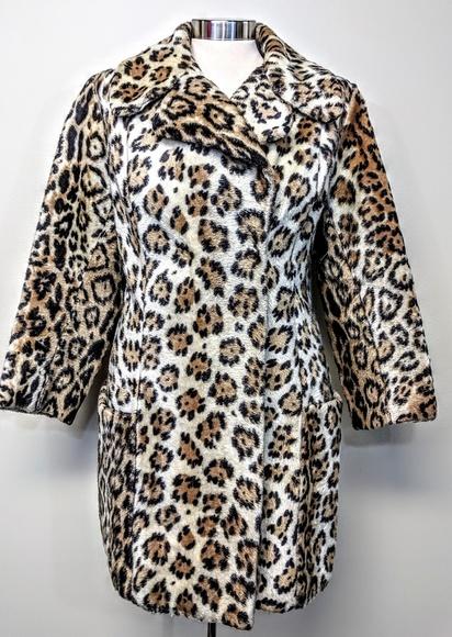 mrs milton Jackets & Blazers - Faux Fur Leopard Coat
